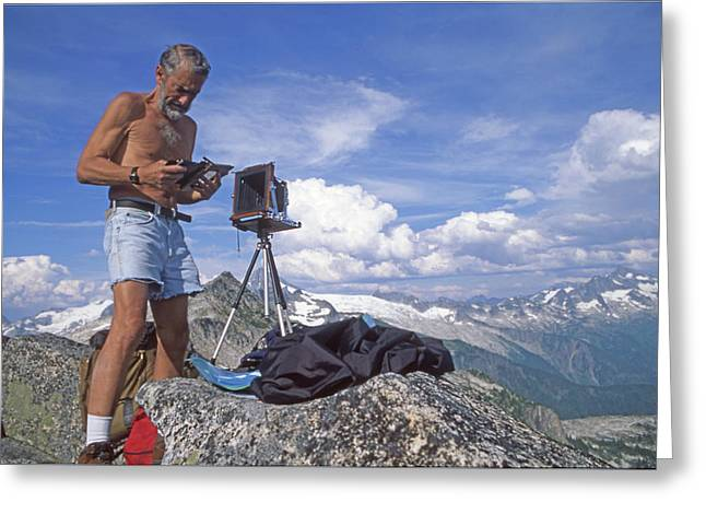 Greeting Card featuring the photograph Mxx133 Ed Cooper On Hidden Lakes Peaks Wa by Ed Cooper Photography