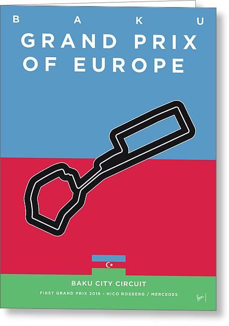My 2017 Grand Prix Of Europe Minimal Poster Greeting Card