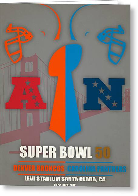 My 2nd Super Bowl Broncos Panthers Greeting Card