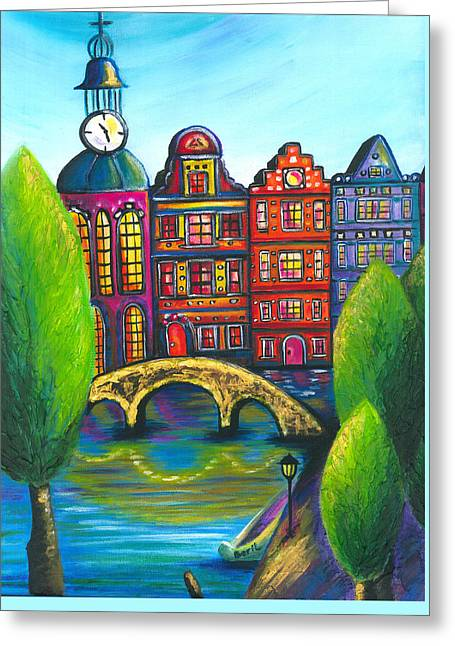 My Amsterdam Greeting Card by Beryllium Canvas