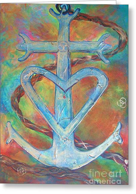 My Anchor Greeting Card by Deb Magelssen