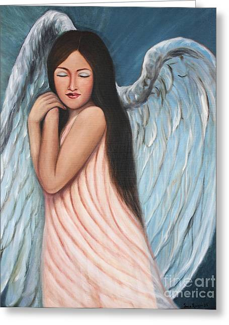 My Angel In Blue Greeting Card