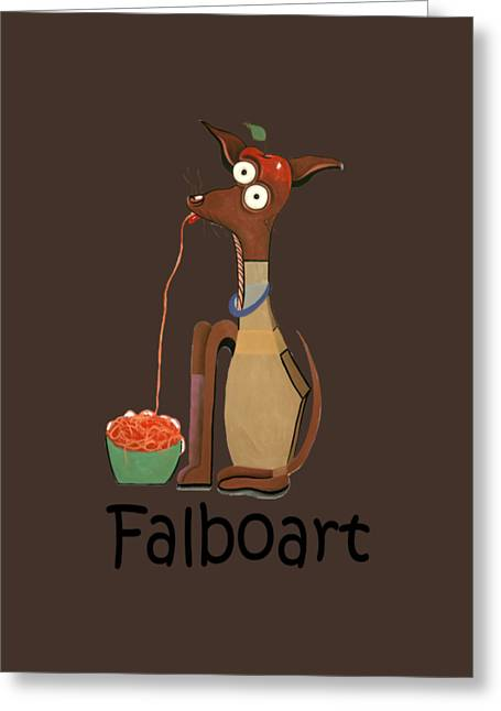 My Applehead Chiwawa Greeting Card by Anthony Falbo