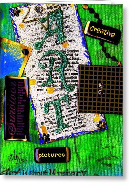 Survivor Art Mixed Media Greeting Cards - My ART Journal I Greeting Card by Angela L Walker