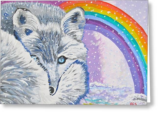 Eys Greeting Cards - My Artic Fox Greeting Card by Phyllis Kaltenbach