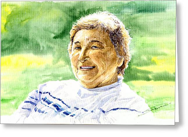 My Aunt Rose Greeting Card by Yuriy  Shevchuk