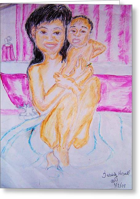 My Baby Greeting Card by Beverly Howell