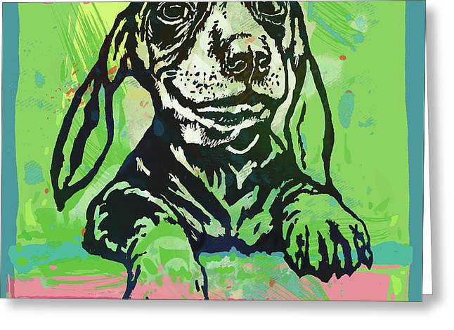 My Baby - Dog Pop Art Poster Greeting Card