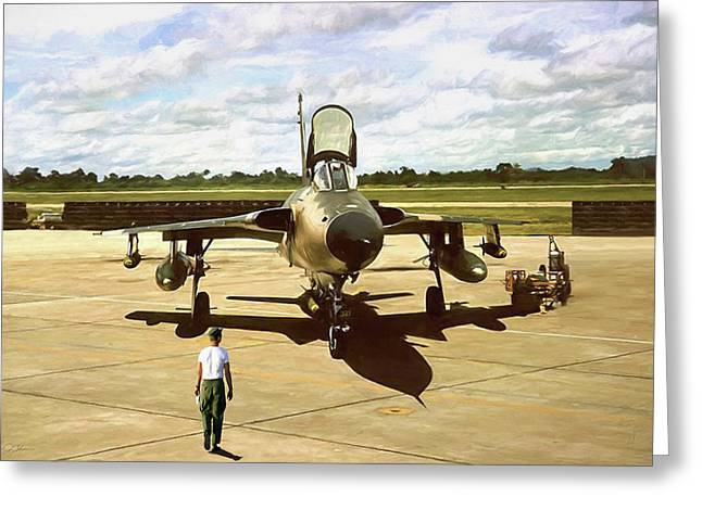 My Baby F-105 Greeting Card by Peter Chilelli
