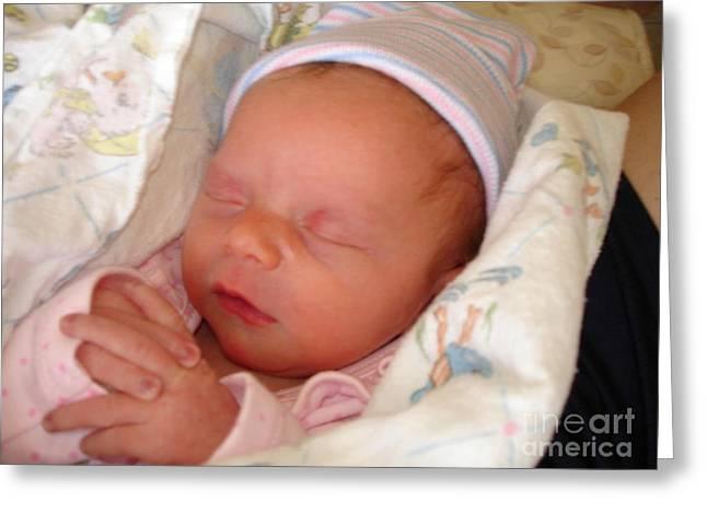 My Baby Prays II Greeting Card by Daniel Henning