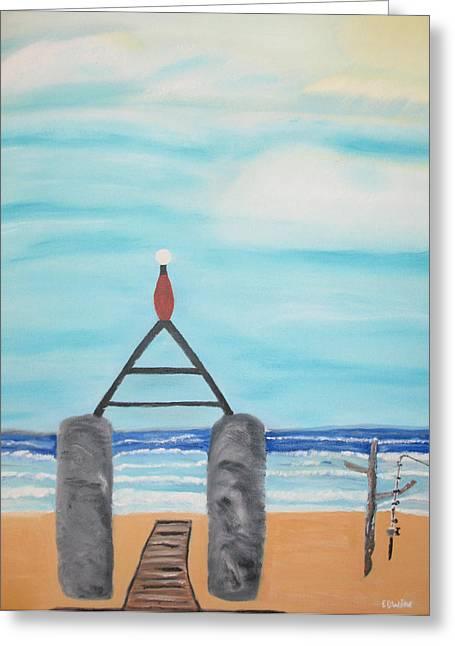 My Beach Greeting Card by Edwin Long