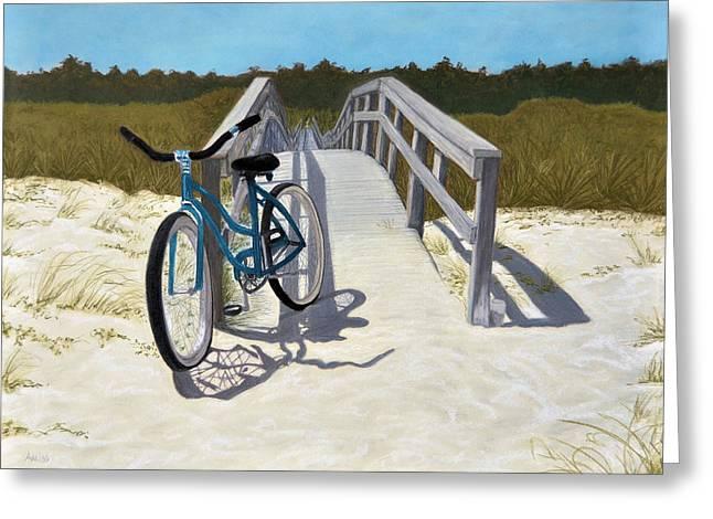 My Blue Bike Greeting Card