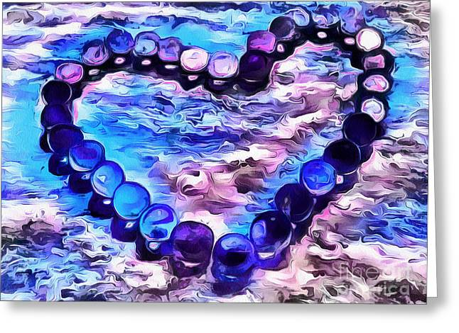 My Blue Heart Greeting Card by Krissy Katsimbras
