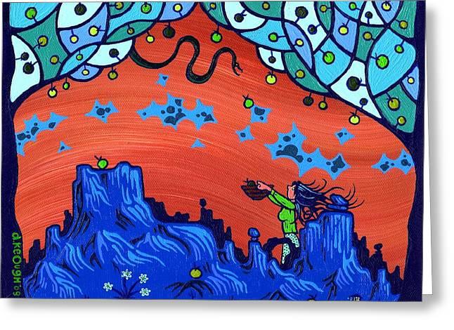 Dan Keough Greeting Cards - My Blue Heaven Greeting Card by Dan Keough