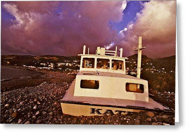 My Boat Greeting Card by Glenn Vidal
