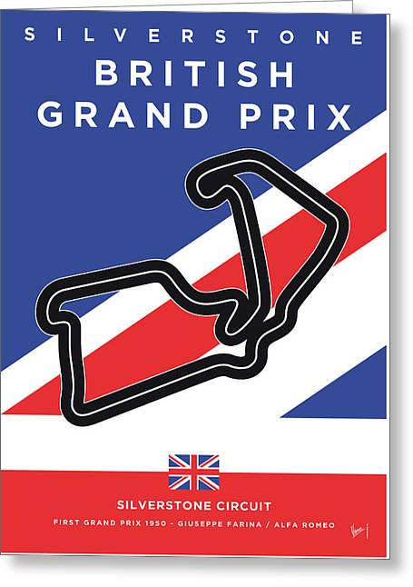 My British Grand Prix Minimal Poster Greeting Card