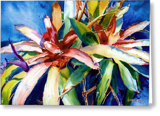 My Bromelias Greeting Card by Estela Robles