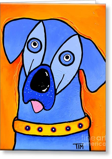 My Brother Is Blue Too Greeting Card by Tim Ross
