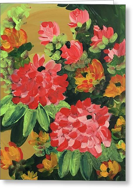 My Brush Sings In The Garden Greeting Card