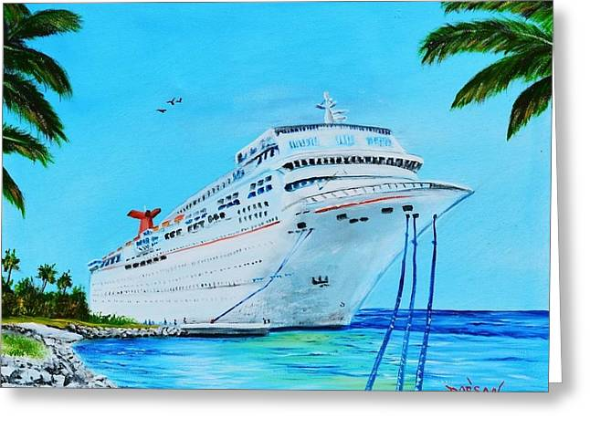 My Carnival Cruise Greeting Card