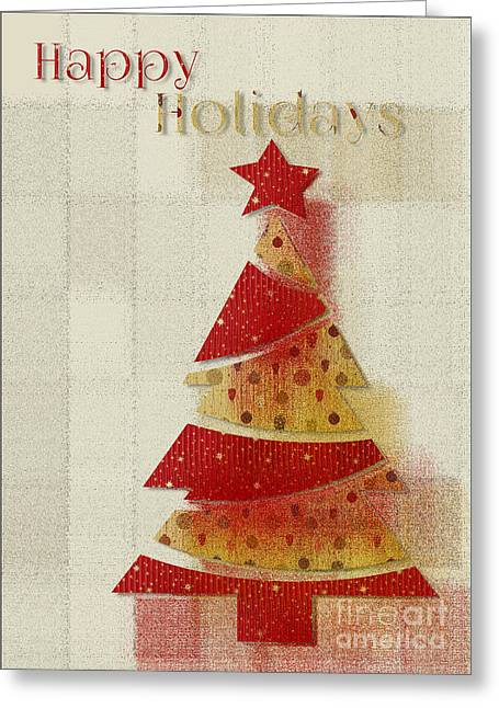 Greeting Card featuring the digital art My Christmas Tree 02 - Happy Holidays by Aimelle