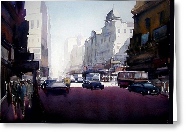 My City At Morning Greeting Card by Samiran Sarkar