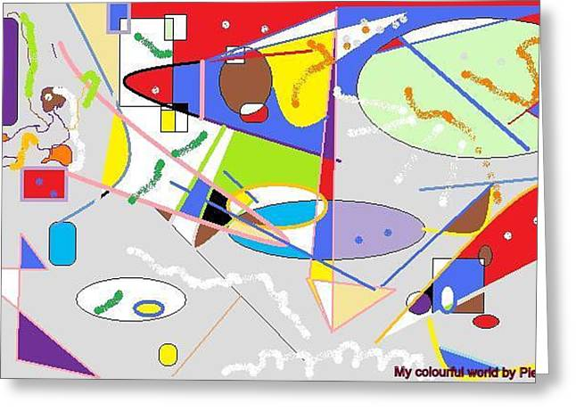 My Colorful World Greeting Card by Pierre Syivaleghana
