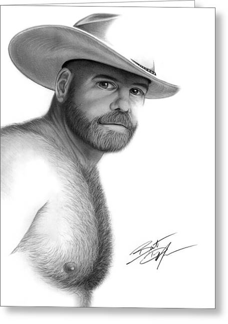 Brent Marr Greeting Cards - My Cowboy Greeting Card by Brent  Marr