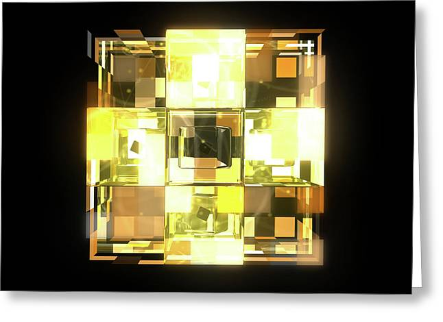My Cubed Mind - Frame 001 Greeting Card