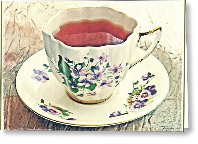 My Cup Of Tea Greeting Card by Sarah Loft