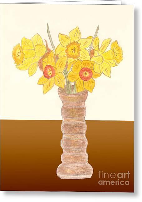 My Daffodils Greeting Card