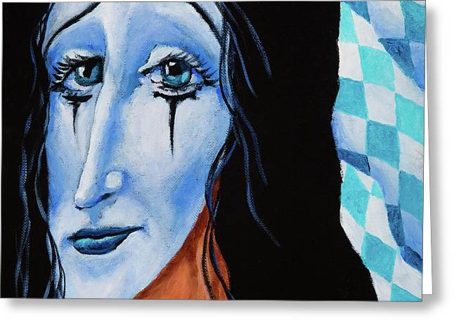 Greeting Card featuring the painting My Dearest Friend Pierrot by Igor Postash