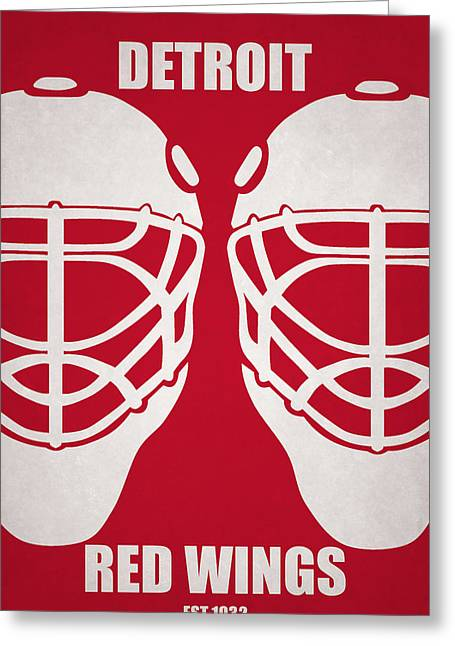 My Detroit Red Wings Greeting Card by Joe Hamilton