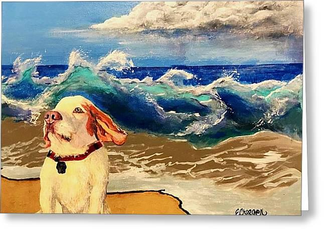 My Dog And The Sea #1 - Beagle Greeting Card