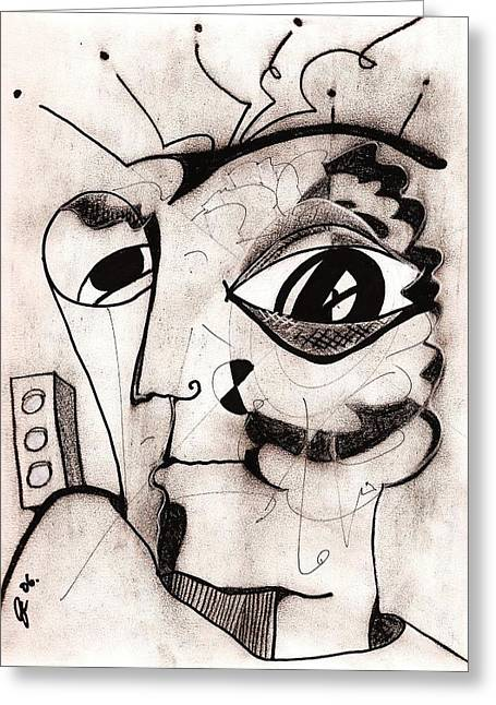 My Eye Is On You Greeting Card by Jimmy King