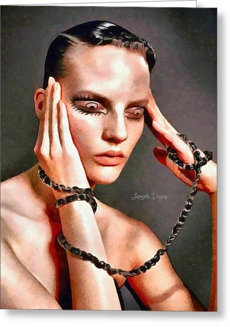 My Eyes Greeting Card by Leonardo Digenio
