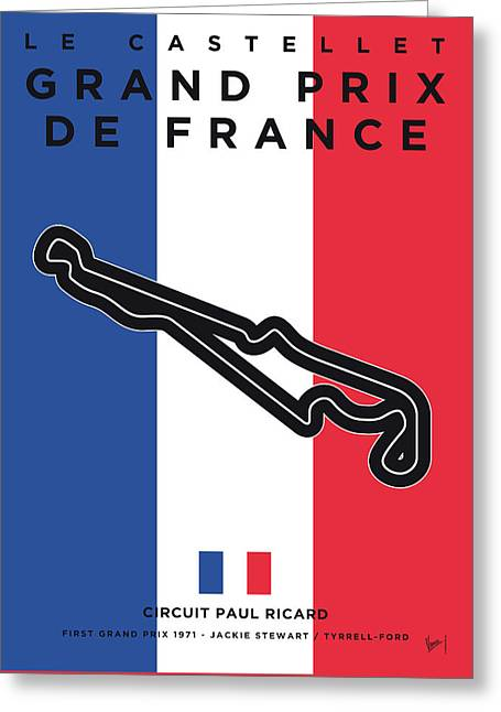 My F1 France Race Track Minimal Poster Greeting Card