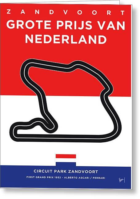 My F1 Zandvoort Race Track Minimal Poster Greeting Card