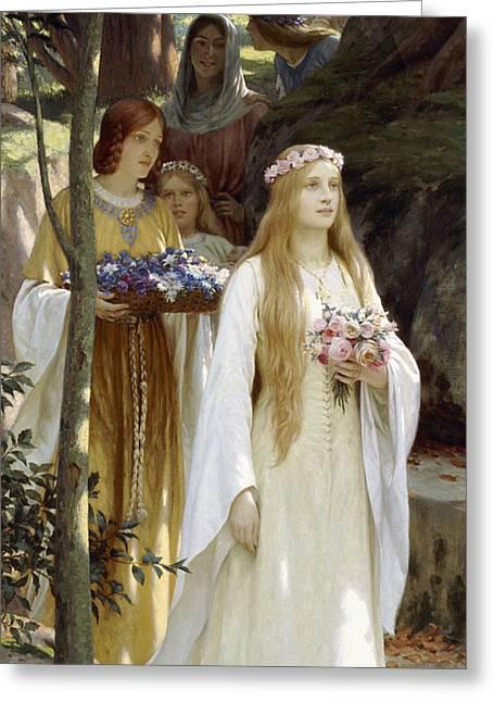 My Fair Lady Greeting Card by Edmund Blair Leighton