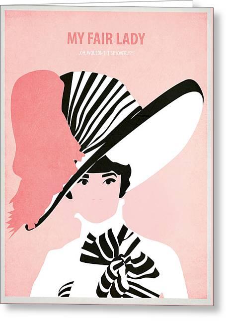 My Fair Lady Greeting Card by Fraulein Fisher