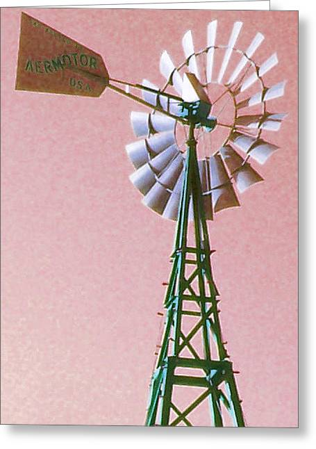 My Fancy Windmill Greeting Card by Melanie Snipes