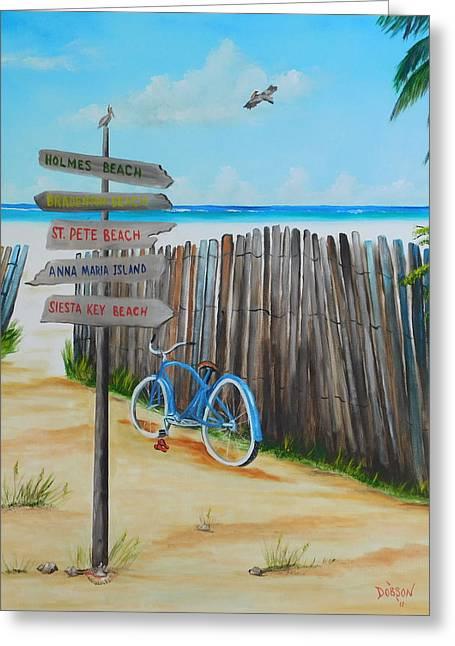 My Favorite Beaches Greeting Card by Lloyd Dobson