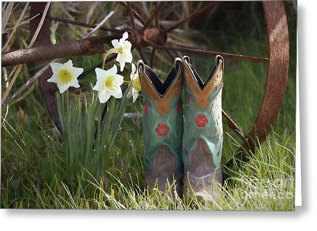 Greeting Card featuring the photograph My Favorite Boots by Benanne Stiens
