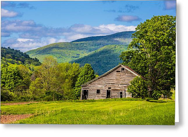 Greeting Card featuring the photograph My Favorite Cabin In The Rolling Mountains by Paula Porterfield-Izzo