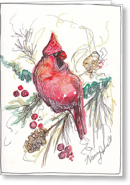 My Favorite Cardinal Greeting Card by Michele Hollister - for Nancy Asbell