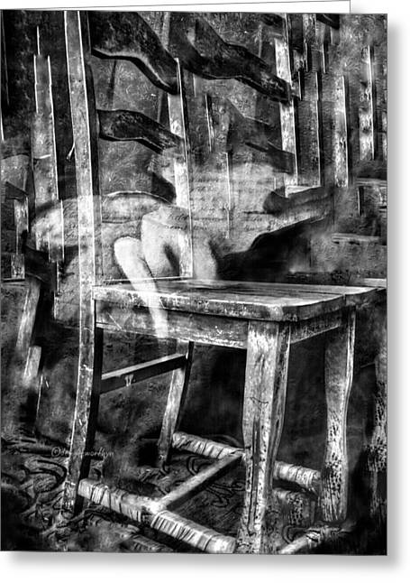 Greeting Card featuring the digital art My Favorite Chair 2 by Delight Worthyn
