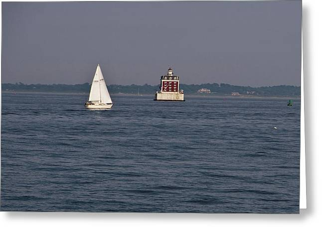 My Favorite Lighthouse Greeting Card by Gerald Mitchell