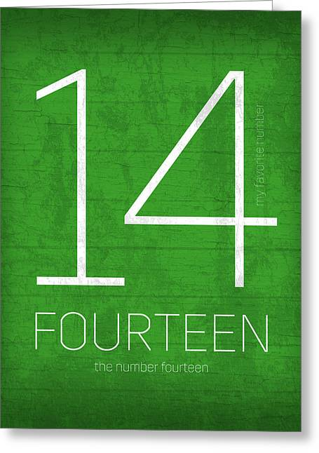 My Favorite Number Is Number 14 Series 014 Fourteen Graphic Art Greeting Card