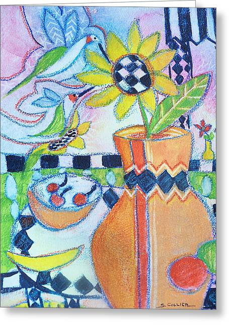 My Favorite Things Greeting Card by Sandy Collier