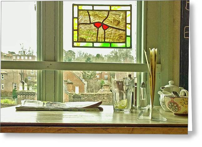 Greeting Card featuring the photograph My Favourite Cafe by Anne Kotan